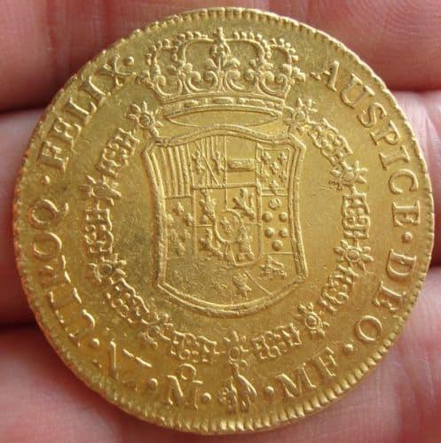 8 escudos México 1770 reverso