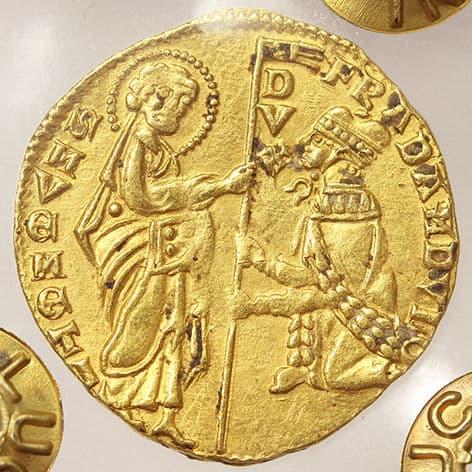 ducado veneciano Francesco Dandolo anverso