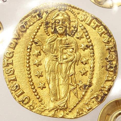 ducado veneciano Francesco Dandolo reverso