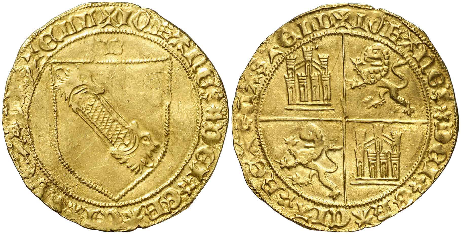 Dobla de la banda. Moneda medieval de oro castellana (figura 5)
