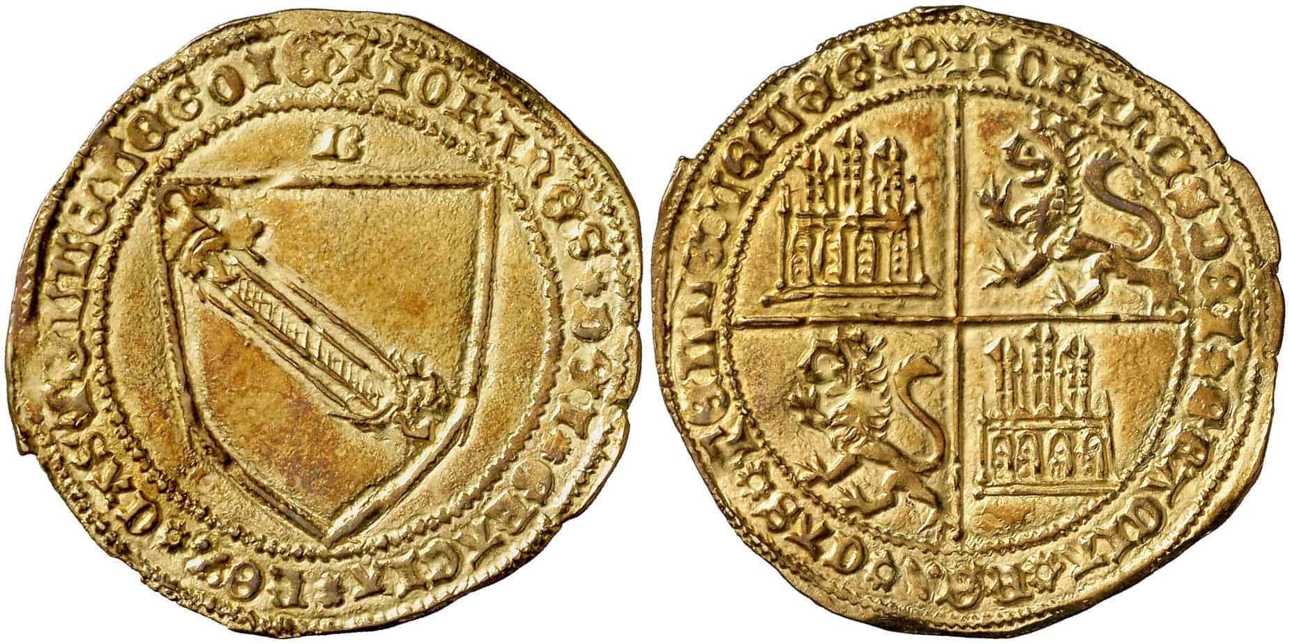 Dobla de la banda. Moneda medieval de oro castellana (figura 6)