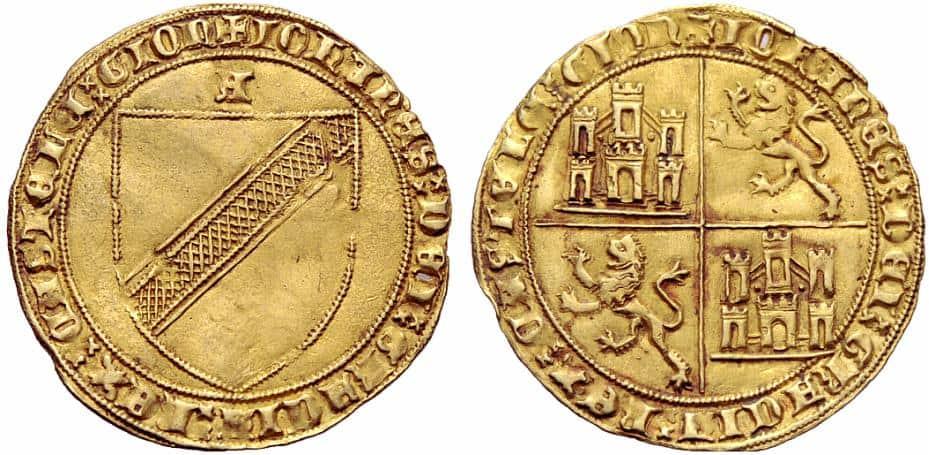 Dobla de la banda. Moneda medieval de oro castellana (figura 8)