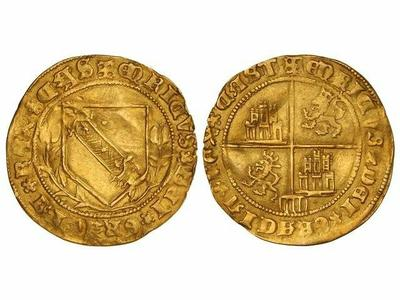 Dobla de la banda. Moneda medieval de oro castellana (figura 10)