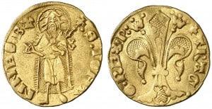 Florín de Perpiñac de Pedro IV