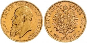 20 markos de Jorge II de Sajonia-Meiningen