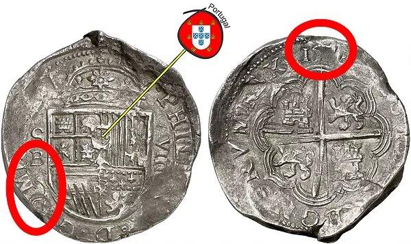 Macuquina de Sevilla D- (tipo III Felipe II, tipo I Felipe III)
