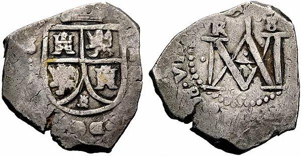 Macuquina de Sevilla F- (tipo II Carlos II)