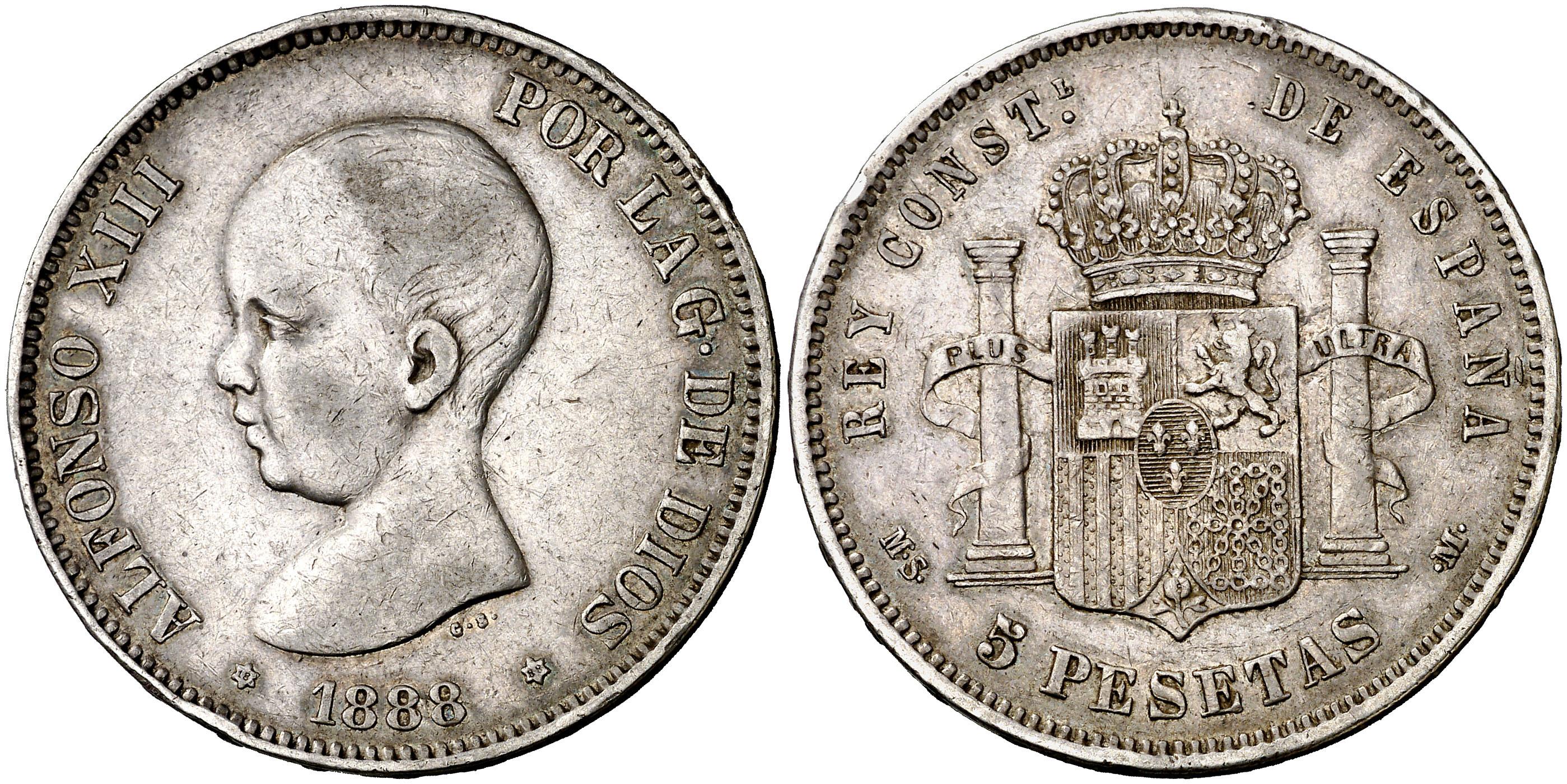 5 pesetas mbc