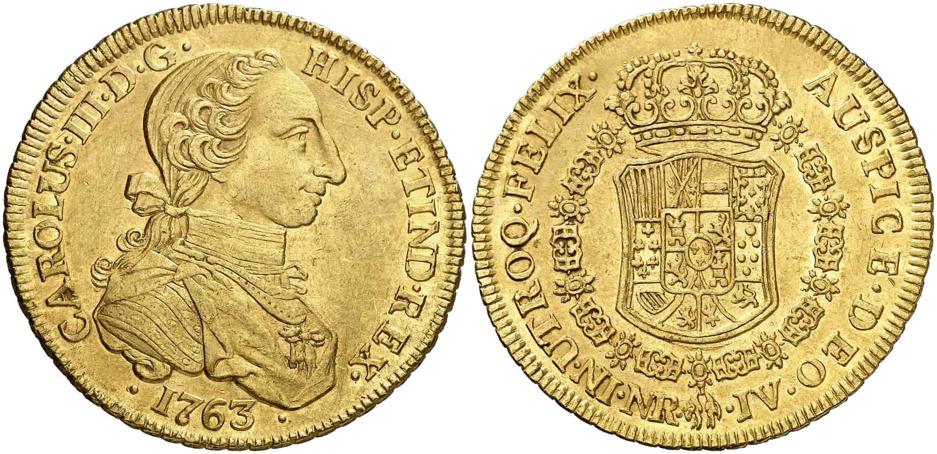 8 Escudos Santa Fe 1763