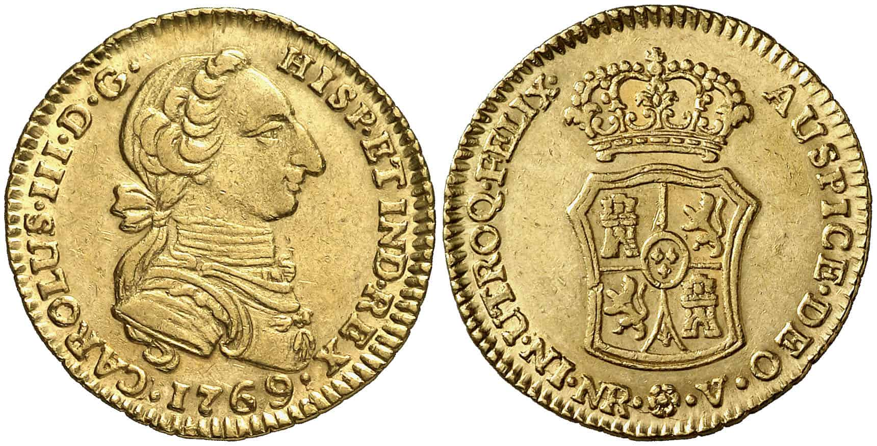 2 Escudos Santa Fe 1769