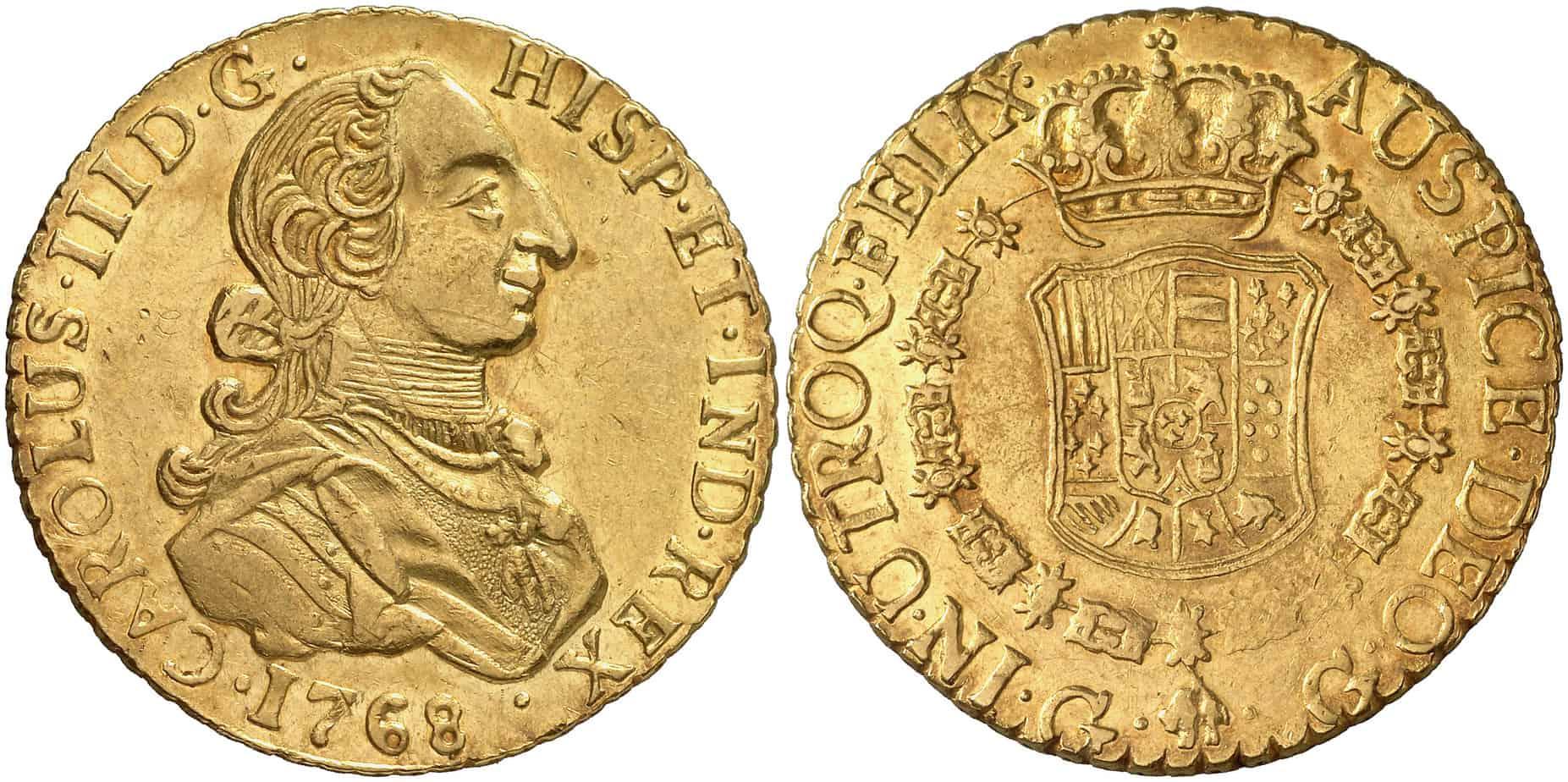 8 Escudos Guatemala, 1768