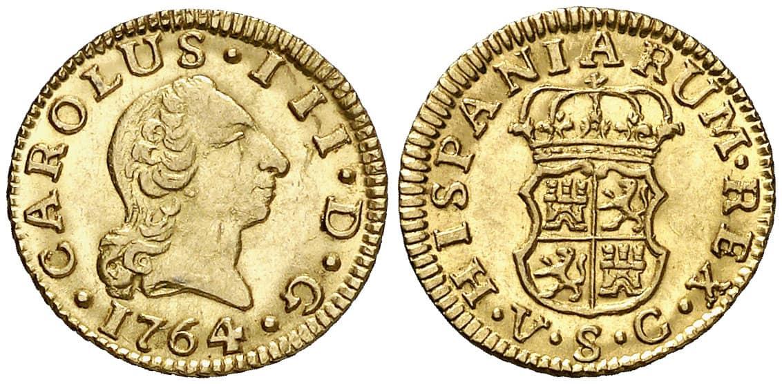Medio Escudo Sevilla 1764