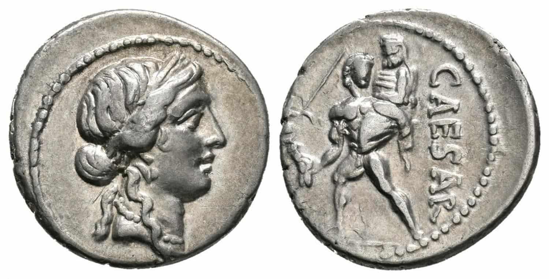5 denarios Julio César