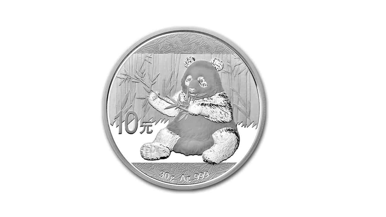Bullion de plata panda coloreado