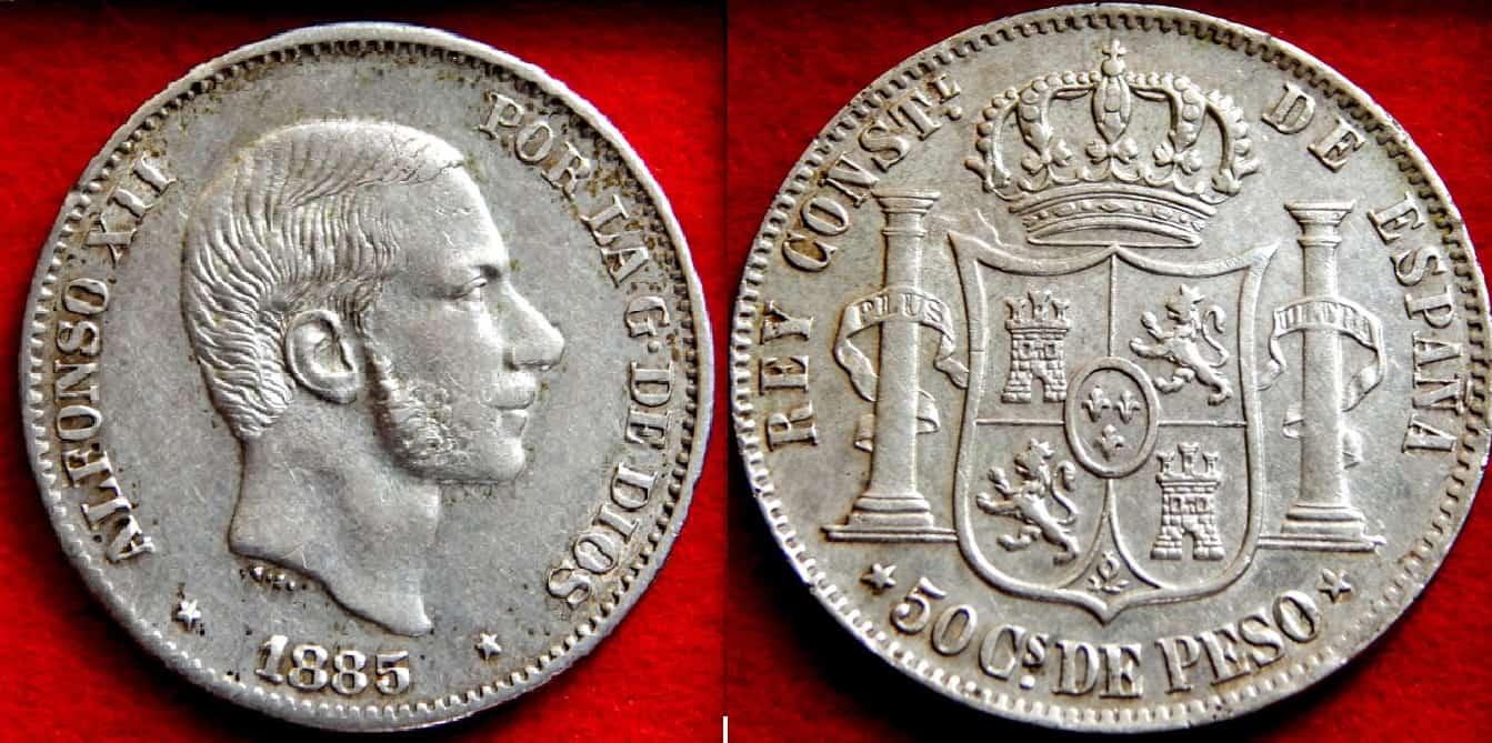 50 Centavos de 1885