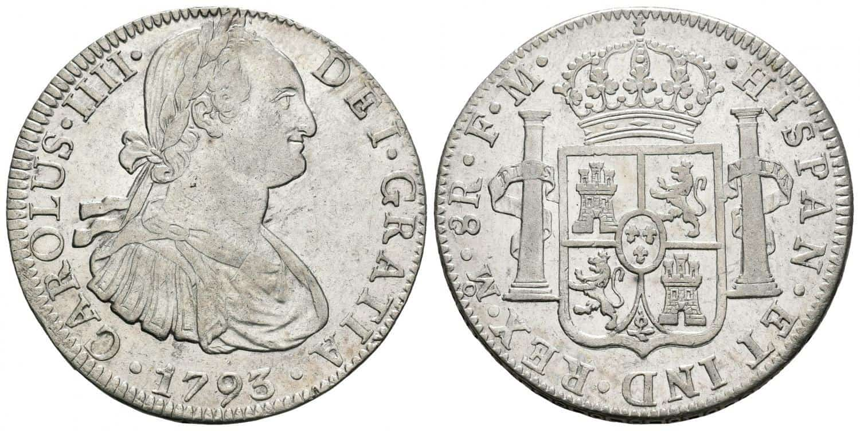 Carlos IV, 8 reales.1793. México
