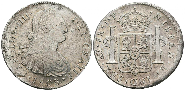 Carlos IV. 8 reales. 1803. Lima.