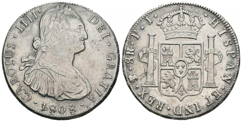 Carlos IV. 8-reales.1808. Potosí.