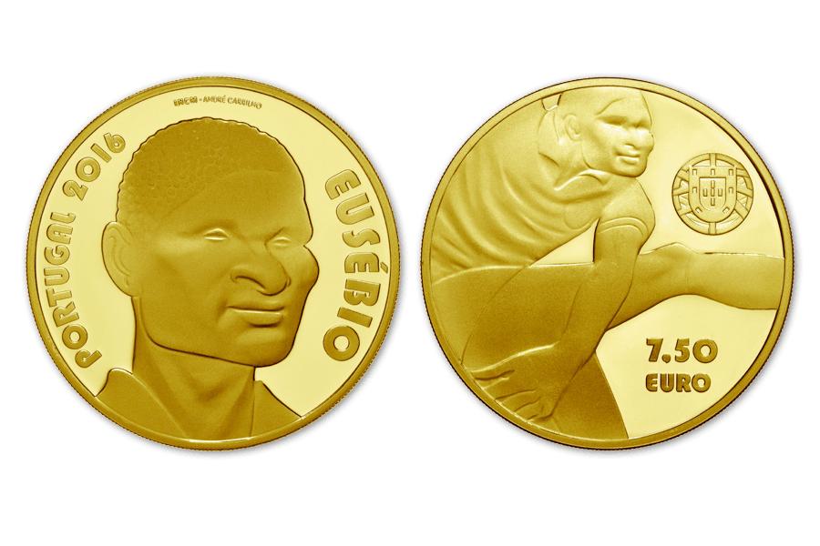 7,5 euros de Portugal conmemorativos de Eusebio