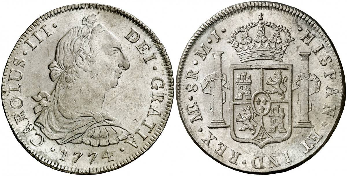 8 reales Lima 1774