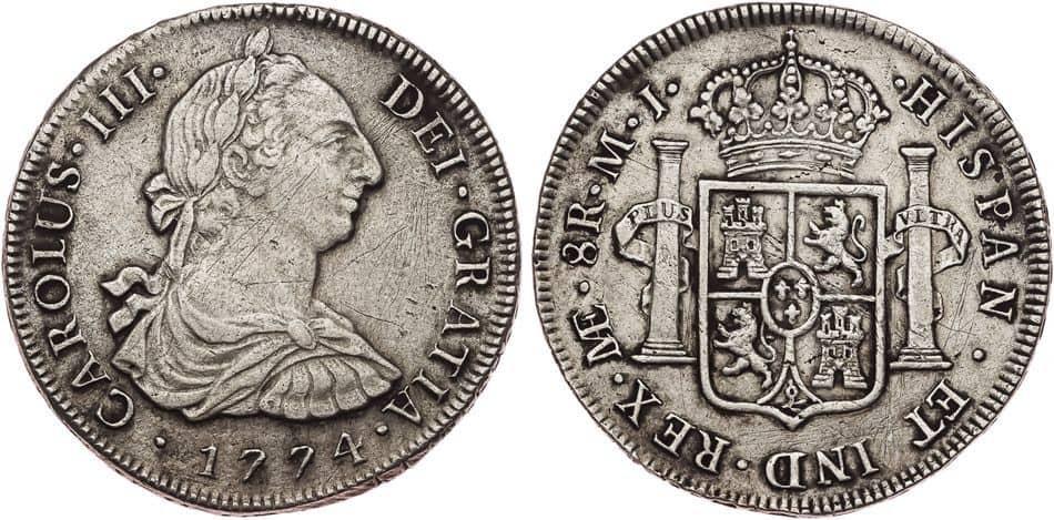 8 reales 1774