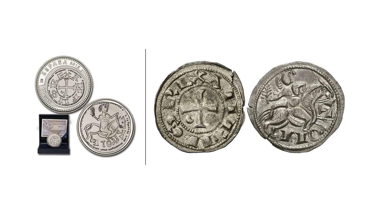 Dinero de Alfonso VIII, ceca de Toledo