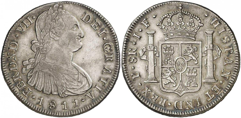 8 reales. Fernando VII. 1811. Popayán.