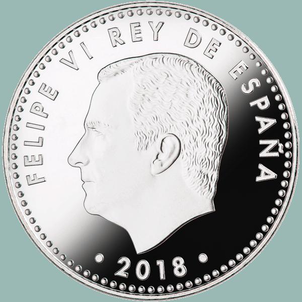 30 euros 50 aniversario rey anverso