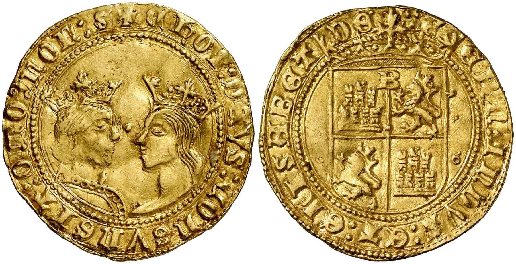 Documento de los Reyes Católicos sobre la acuñación de castellanos en Burgos
