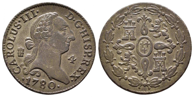 4 maravedís. 1780. Segovia.