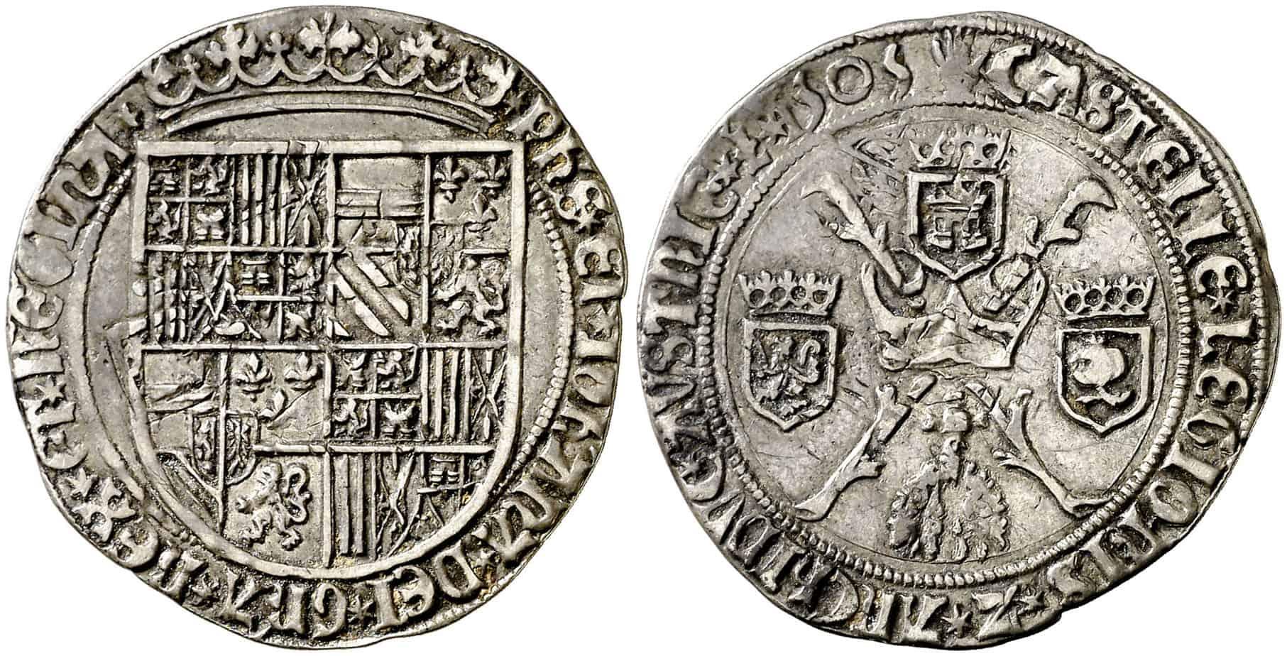 Las monedas de las hijas y los yernos de los Reyes Católicos