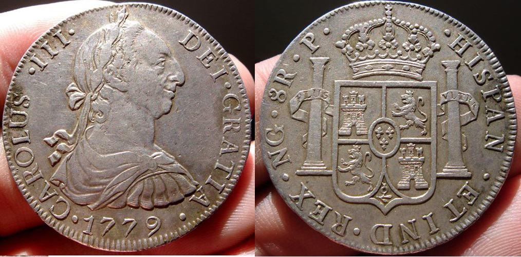 8 reales 1779, Nueva Guatemala