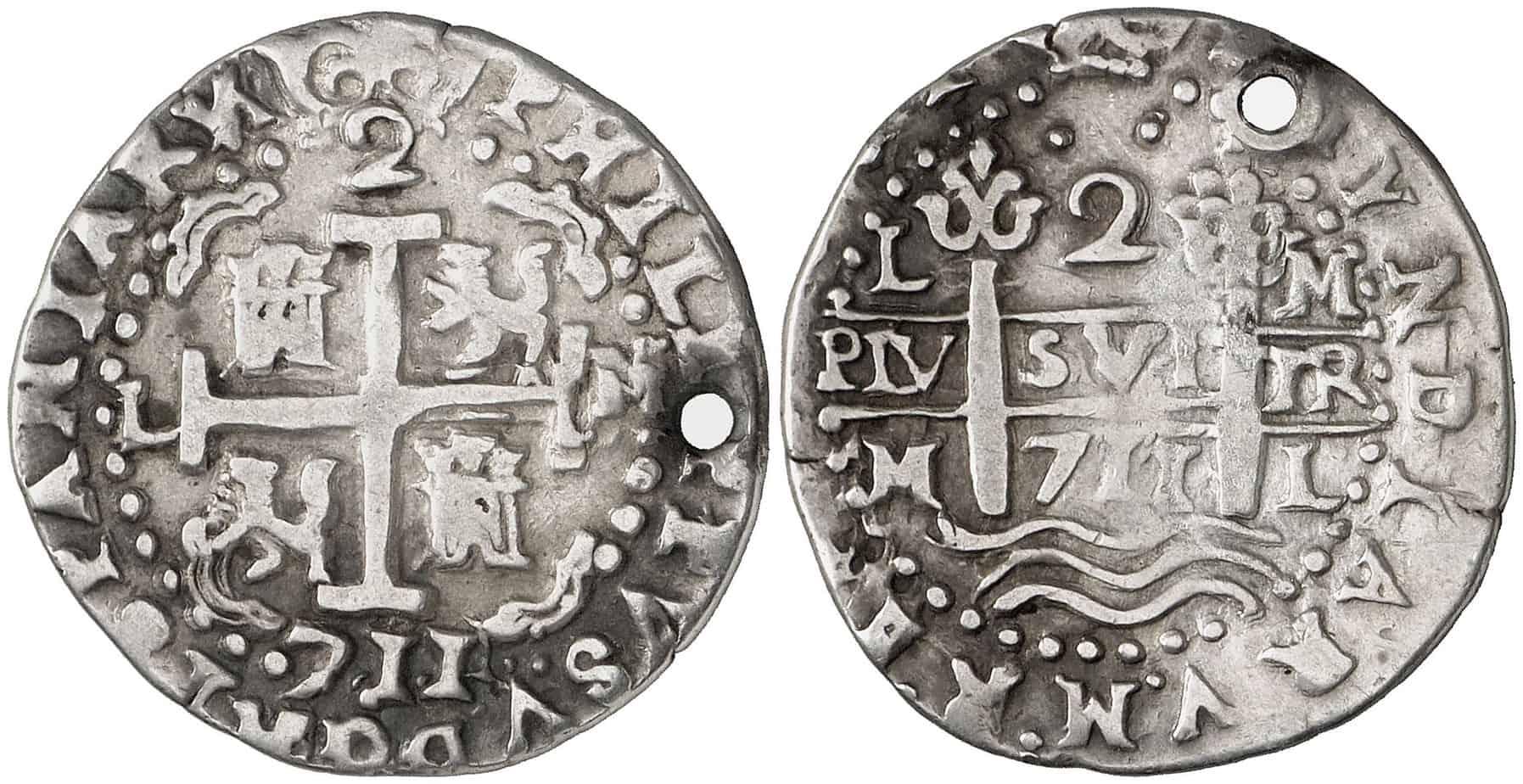 Figura 4: 1711. Lima. M. 2 reales.