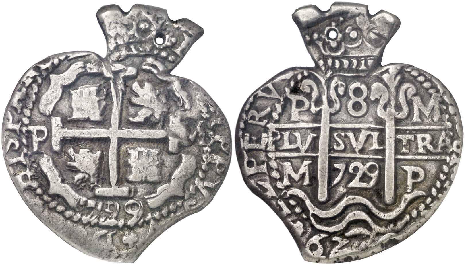 Figura 7: 1729. Potosí. M. 8 reales.