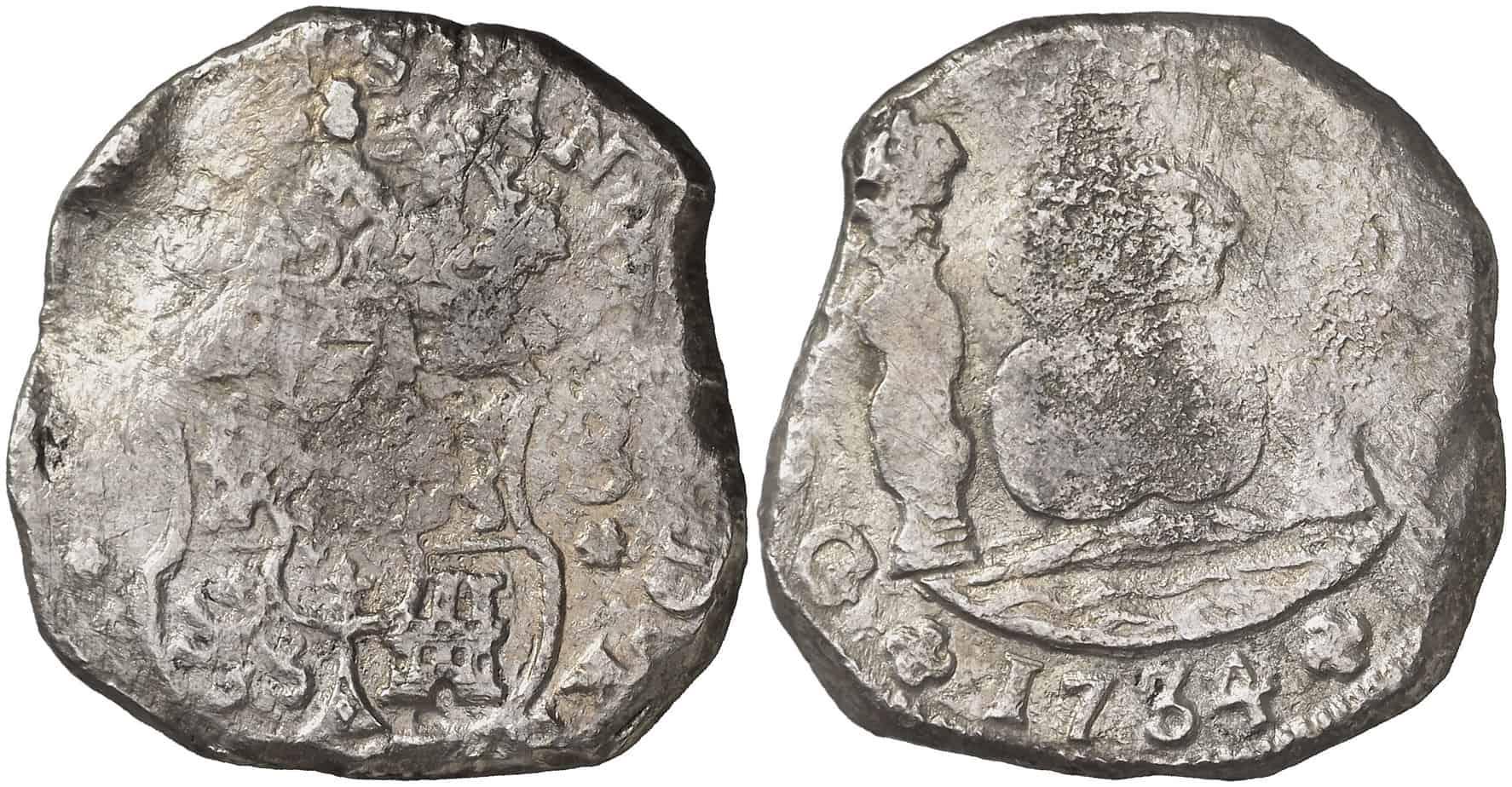 8 reales Guatemala 1734