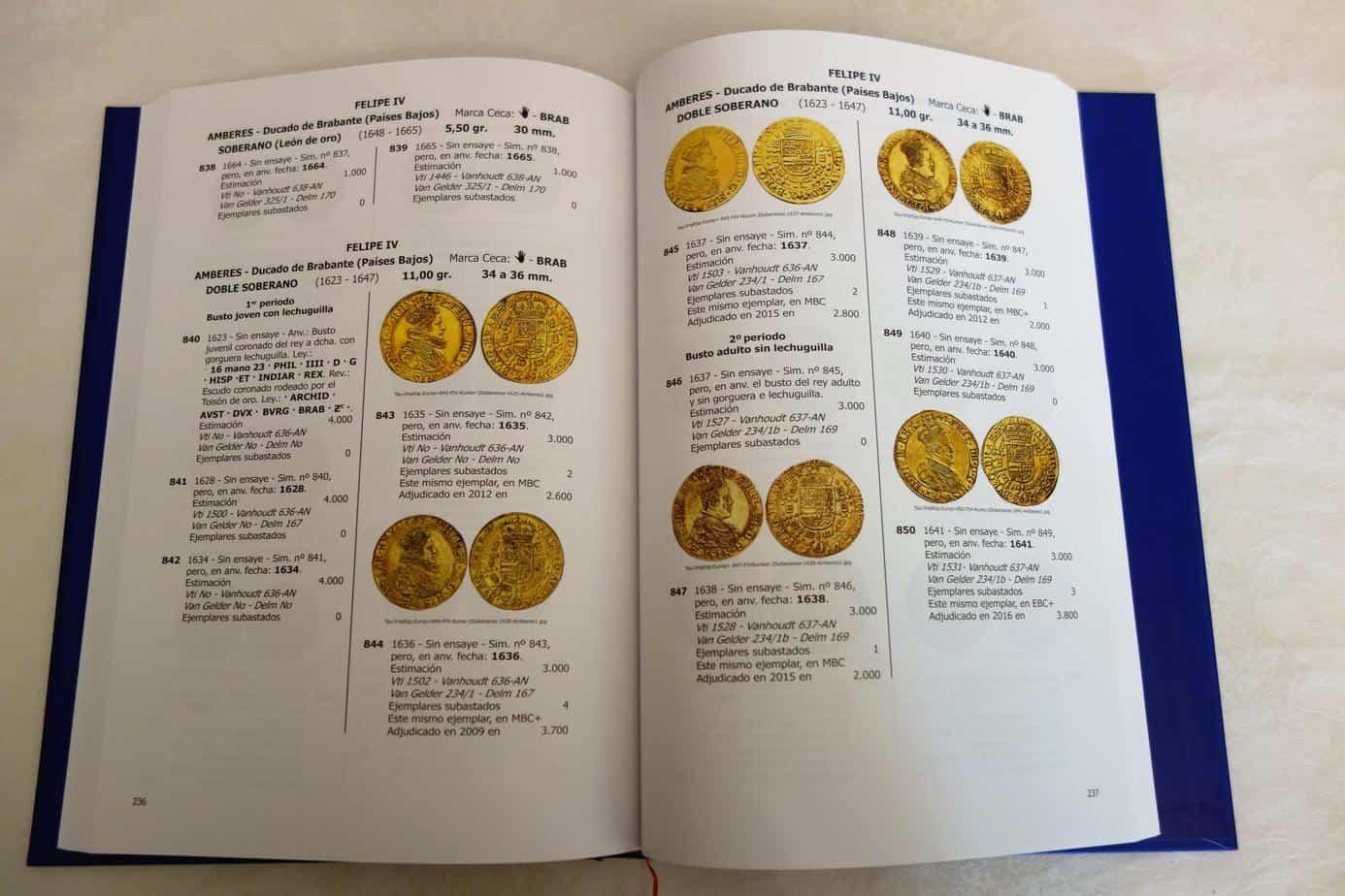 catalogo oro imperio español