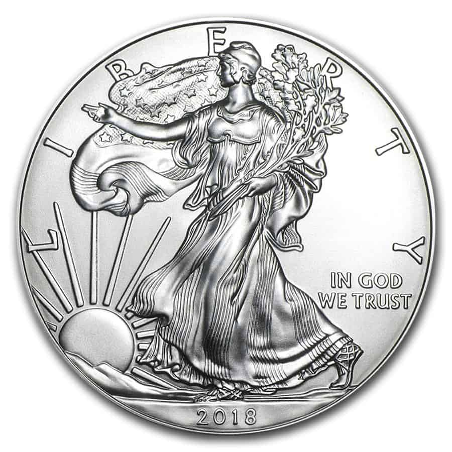 Moneda plata eagle, 2018. 1oz