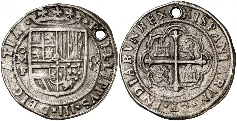 8 reales, Felipe III. México. F. s/d.