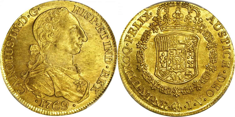 8 escudos Santa Fe de Nuevo Reino, 1769 JV