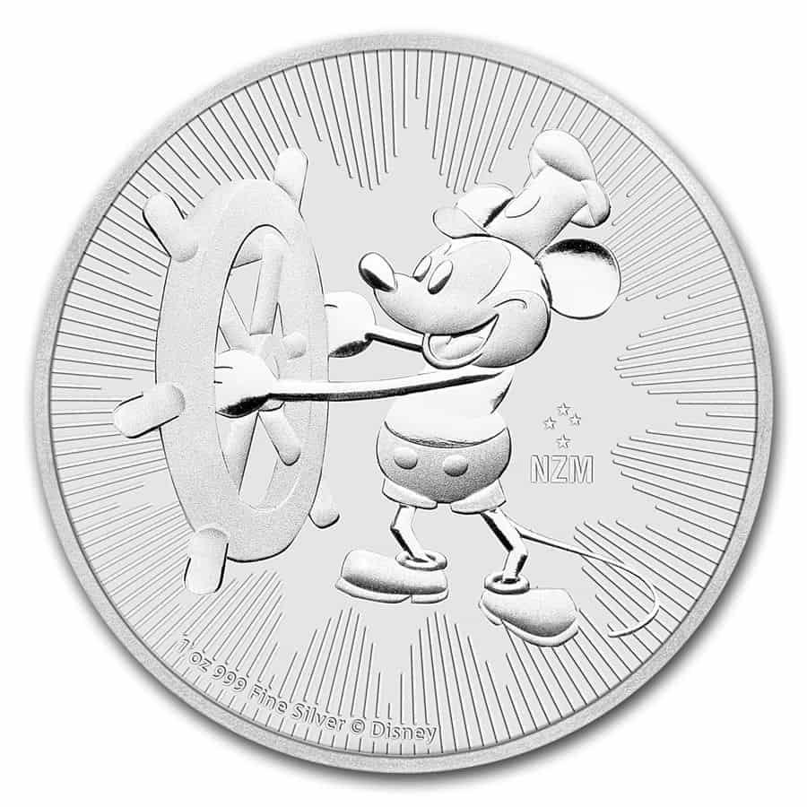 1 onza de plata de Niue, serie Disney