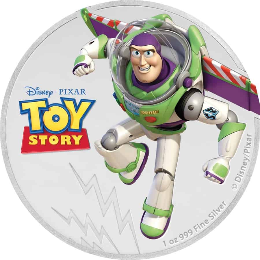 Moneda de plata Buzz Lightyear, Niue, 2018