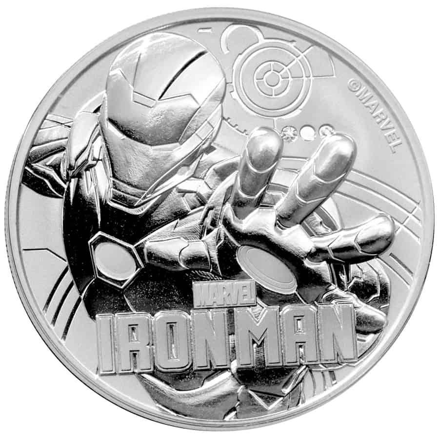 1 onza de plata de Tuvalu, serie Marvel