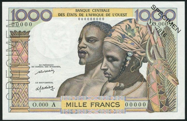1000 Francs, 1977