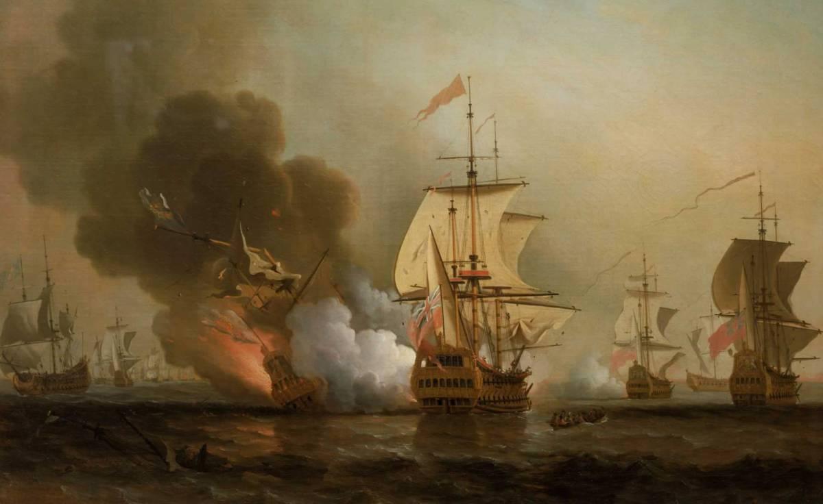 La batalla de Baru, Samuel Scott.