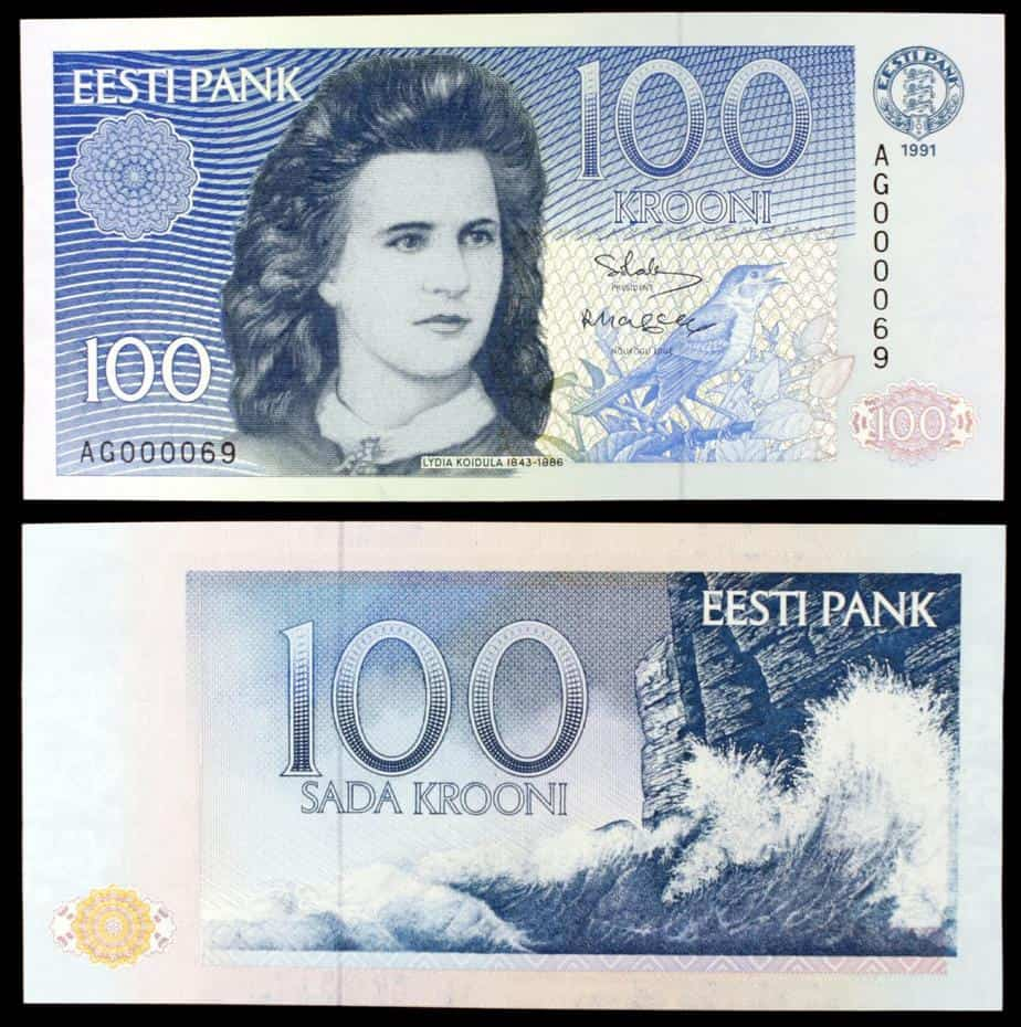100 coronas Estonia
