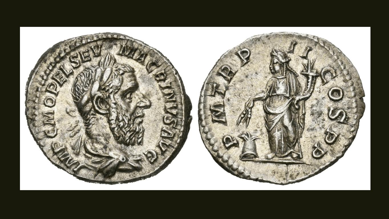 Macrino. Denario. 218 d.C.