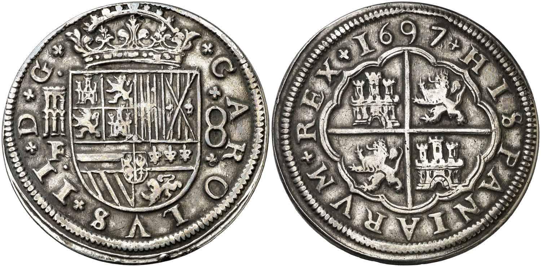 8 reales Segovia 1697