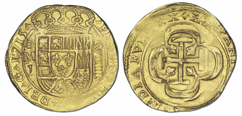 8 escudos México 1715