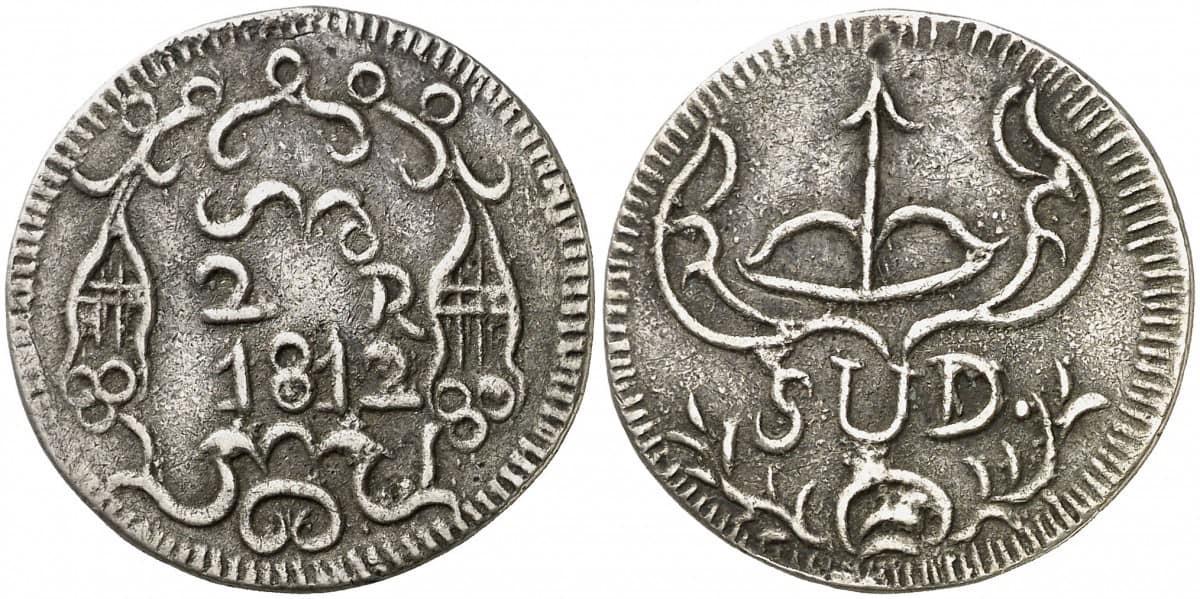 2 reales Morelos 1812