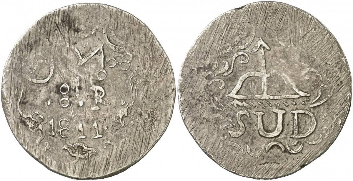 8 reales 1811 Morelos plata acuñada